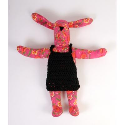 Knuffel Haas Pink Flower