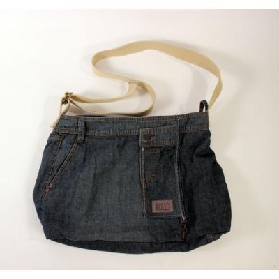 Schoudertas van used jeans