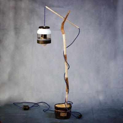 Lamp branch denim jar 06